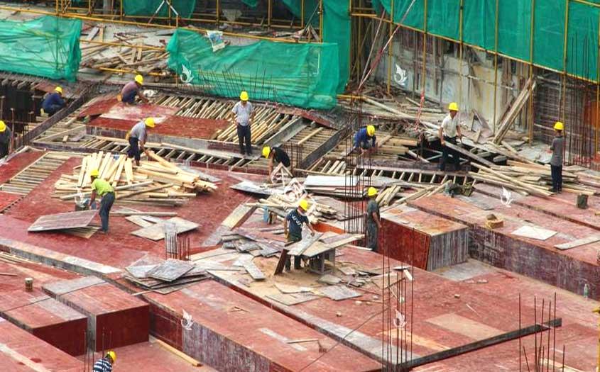建筑木模板在建筑工程中普遍使用