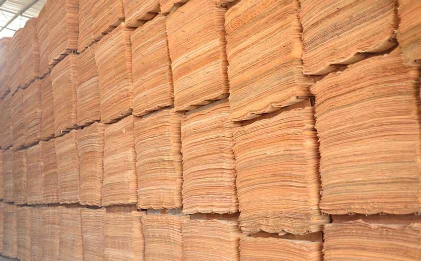 大型松木桉木单板贮存仓库