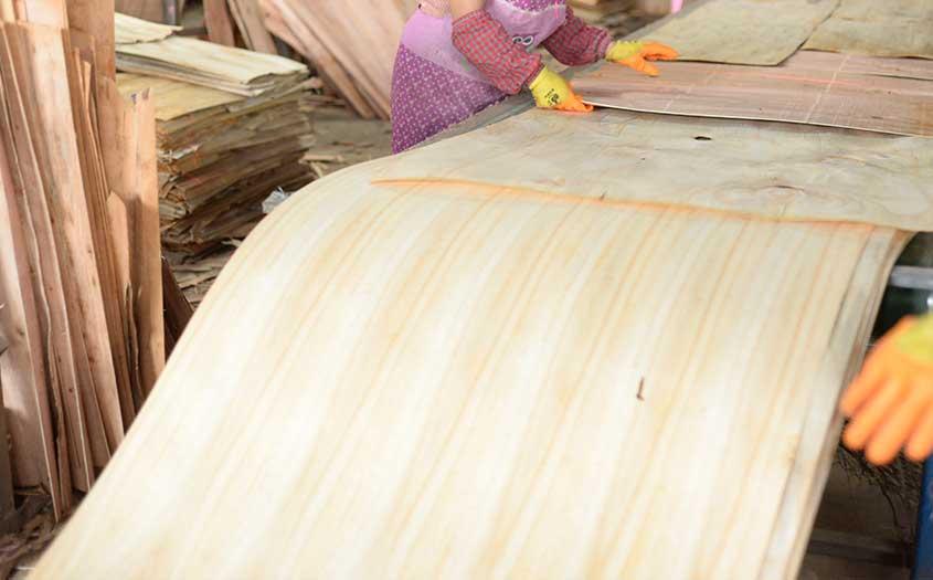 木模板排版流水线