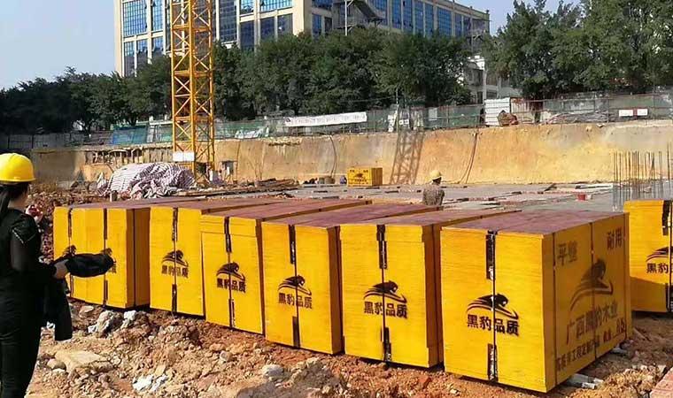 广西贵港建筑木模板在工地现场